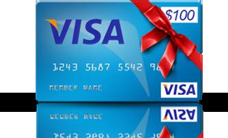 Get a $100 VISA Prepaid Card!